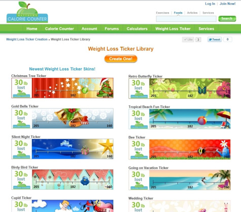 Weight Loss Ticker Library