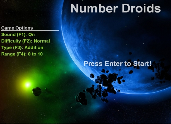 Preview Image Number Droids Start Screen