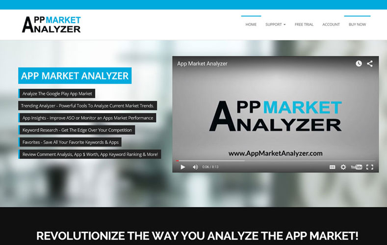 App Market Analyzer Home